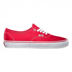 vans chaussure authentic - red, toile, tissu