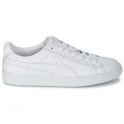 puma classic lfs cuir blanc - blanc, cuir, cuir/textile