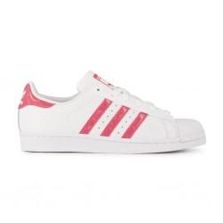 adidas superstar db1210 - blanc-rose, cuir, cuir