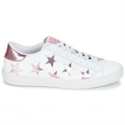victoria baskets basses étoiles - rose, synthétique, synthétique