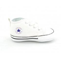converse chuck taylor first star pour bébé - blanc, toile, tissu
