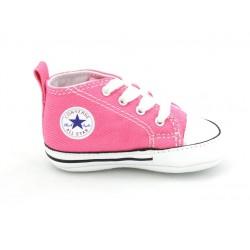 converse chuck taylor first star pour bébé - rose, toile, tissu