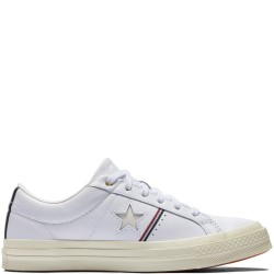 converse one star piping - blanc, textile, textile