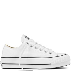 converse chuck taylor all star lift - blanc, textile