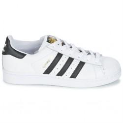adidas superstar - blanc-noir, cuir, cuir/textile