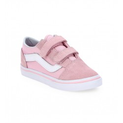 vans old school enfant - rose, textile, textile