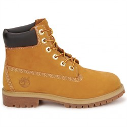 timberland® icon 6-inch premium boot junior 12909 - wheat-jaune, cuir, tissu