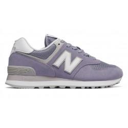 new balance wl574 esv - violet, cuir/suede, cuir/textile