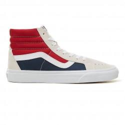 vans chaussure sk8 - gris-rouge, cuir/textile, cuir/textile