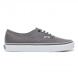 vans chaussure authentic - pewter., toile, tissu
