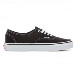 vans chaussure authentic - black, toile, tissu