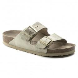 birkenstock arizona birko-flor® sandales - metal-gold, cuir, liege
