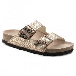 birkenstock arizona birko-flor® sandales - stone-copper, cuir, liege
