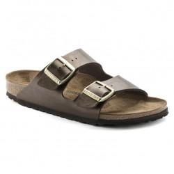 birkenstock arizona birko-flor® sandales - toffee, cuir, liege