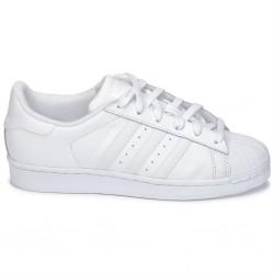 adidas superstar j - blanc, cuir, cuir/textile