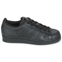 adidas superstar j - noir-noir, cuir, cuir/textile