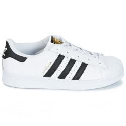 adidas superstar j - blanc-noir, cuir, cuir/textile