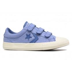 converse star player - bleu, textile, textile