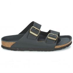 birkenstock arizona birko-flor® sandales - hex-noir, cuir, liege