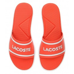 lacoste slide - rose, synthétic, syntetic.