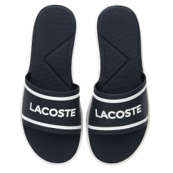 lacoste slide - bleu, synthétic, syntetic.