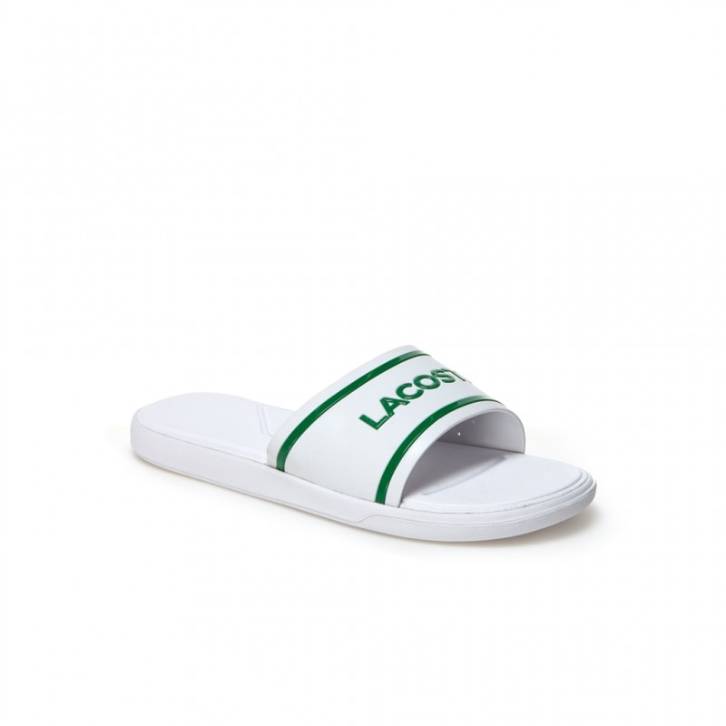 LACOSTE SLIDE - BLANC CHAUSSURES ADULTES NEUF