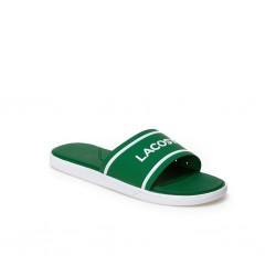 lacoste slide - vert, polyester, polyester