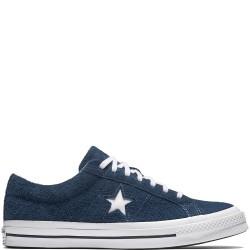 converse one star - bleu, nubuck, cuir