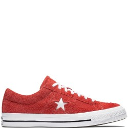 converse one star - rouge, nubuck, cuir