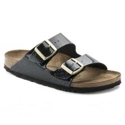 birkenstock arizona birko-flor® sandales - msb-noir, cuir, liege