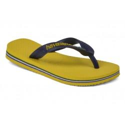 havaianas baby brasil logo - yellow, caoutchouc, caoutchouc