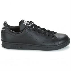 adidas stan smith j - black-black, cuir, cuir/textile
