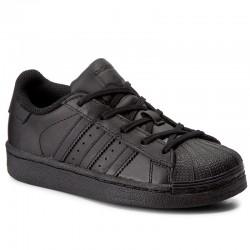 adidas superstar - noir, cuir, cuir/textile