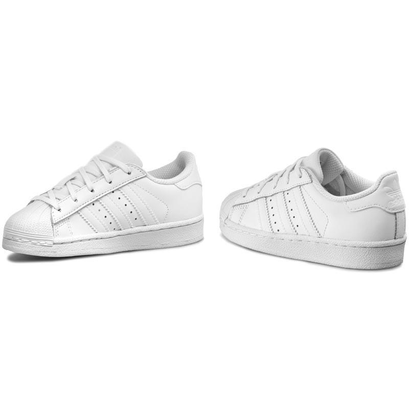 Détails sur Adidas SUPERSTAR Enfants Blanc Originals Cuir shelltoe Baskets UK 10 1 afficher le titre d'origine