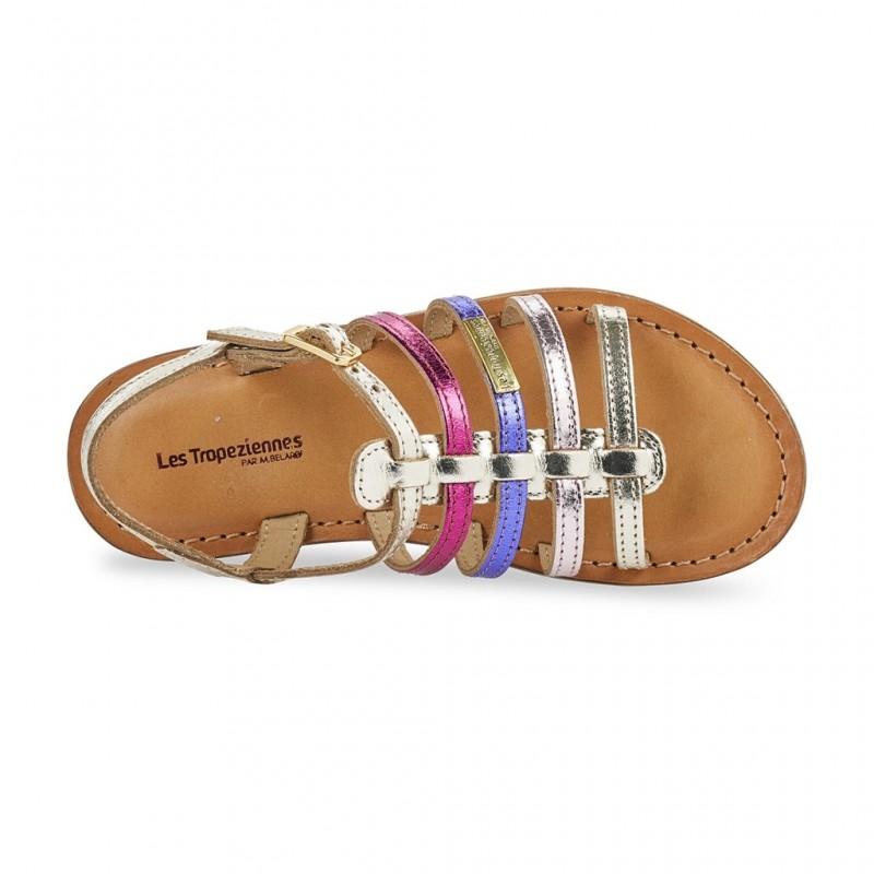 Enfant Mongue 11605 Sur Tropeziennes Or Cuir Détails Chaussures Les Multi 29 BWCoxerdQ