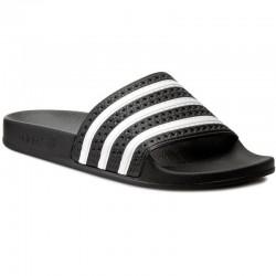 adidas sandale adilette - noir, synthétic, synthétique