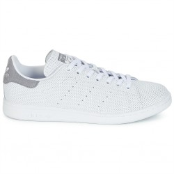 adidas chaussure stan smith - blanc-grey, cuir, cuir/textile