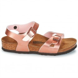 birkenstock rio birko-flor® - metal-rose, synthétique, liege