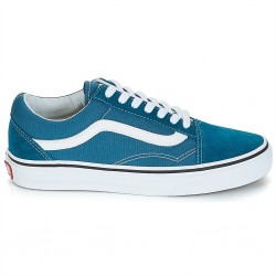vans chaussures old skool - bleu-canard, textile, textile