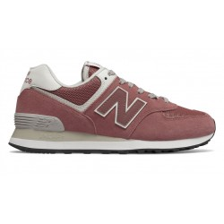 new balance 574 - rose, cuir/suede, cuir/textile
