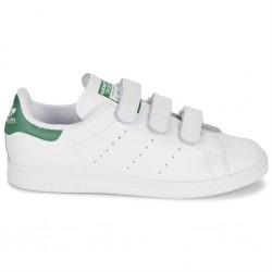 adidas stan smith scratch - blanc-vert, cuir, cuir/textile