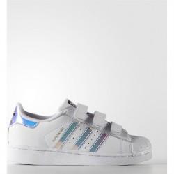 adidas superstar - neon-bleu, cuir, cuir/textile