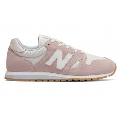 new balance wl 520 - rose, cuir/suede, cuir/textile