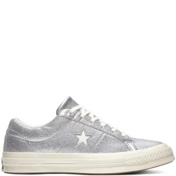 converse one star - argent, syntetic/textile, textile