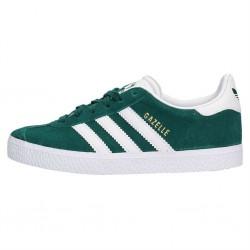 adidas chaussure gazelle - vert, cuir/suede, textile