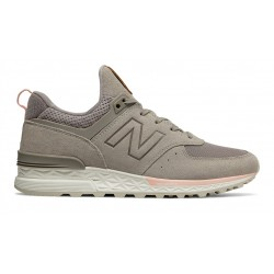new balance ws574 pmc - beige, cuir/suede, cuir/textile