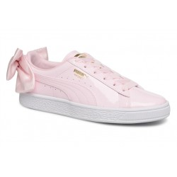 puma wn suede bow patent - rose, cuir/suede, cuir/textile
