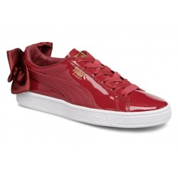 puma wn suede bow patent - rouge, cuir/suede, cuir/textile