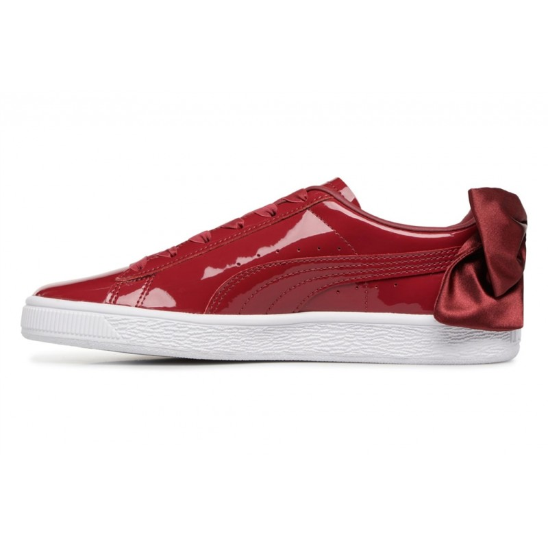 PUMA - WN SUEDE BOW PATENT - PUMA ROUGE CHAUSSURES ADULTES NEUF 161d58