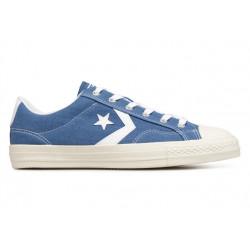 converse star player adulte core canvas ox, basket - bleu-jeans, syntetic/textile, textile